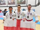 Gold in veteran team kata -Keith, Chris and Dan